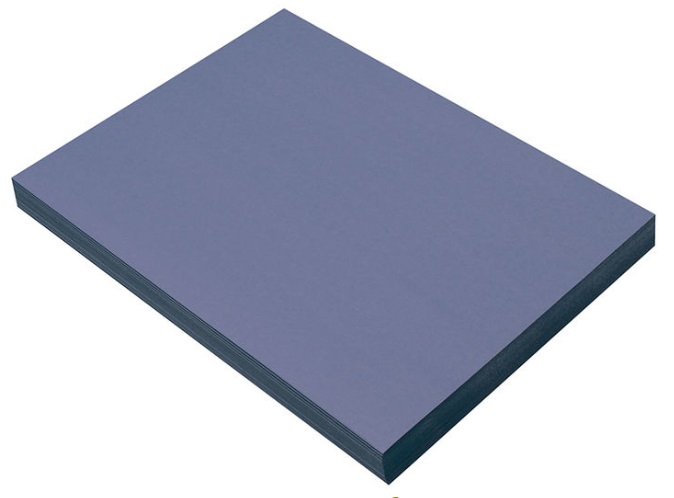 "Pacon 7404 Blue Construction Paper - 9"" x 12"" - 100/pkg"