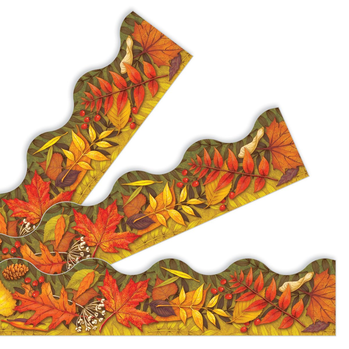 """Trend T92337 Terrific Trimmers Fall Leaves - 2 1/4"""" x 39"""""""