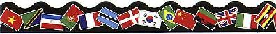 """Trend T91352 Terrific Trimmers World Flags - 2 1/4"""" x 39"""""""