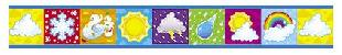 """Trend T85045 Bolder Borders What's the Weather - 3"""" x 39"""""""