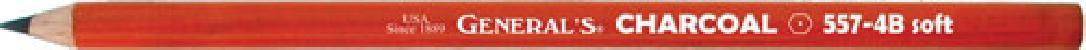 General Pencil 651111 Charcoal Pencil - 6B